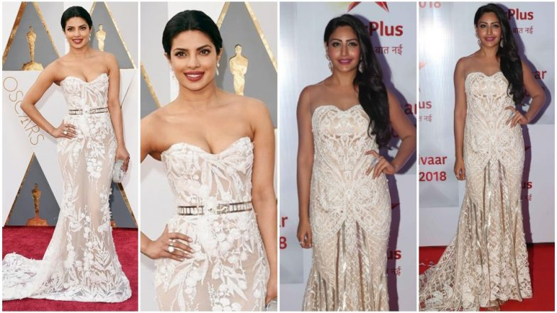 Surbhi Chandna's latest fashion outing for Star Parivaar Awards reminded us of Priyank Chopra from Oscars 2016