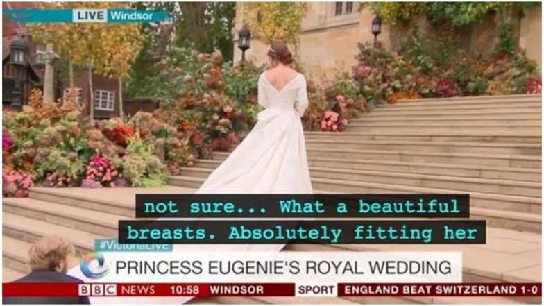 'What a Beautiful Breasts', BBC's Subtitle Blunder Describing Princess Eugenie's Royal Wedding Dress Has Twitterati Laughing