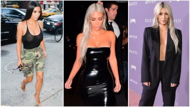 Kim Kardashian Birthday Special: From Sheer Outfits to Latex Dress, Here's How the Reality Star Made Her Fans Root for Her