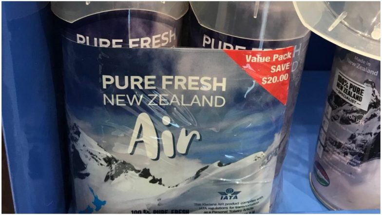 Fresh Air on Sale! Compressed New Zealand Air Sold at Auckland Airport