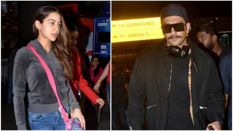 Ranveer Singh and Sara Ali Khan Return From their Swiss Schedule of Simmba