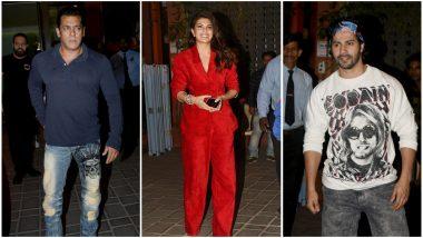 Jacqueline Fernandez, Varun Dhawan, Sonakshi Sinha Join Salman Khan At Aayush Sharma's Birthday Bash – View Pics