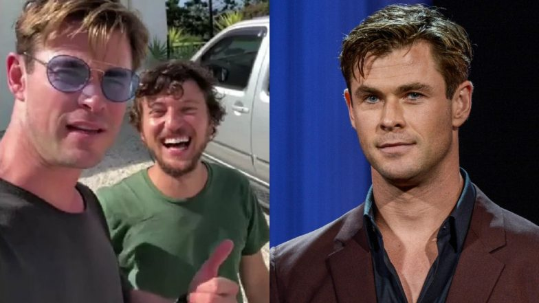 Chris Hemsworth Picks Up a Hitchhiker and Gives Him a Helicopter Ride! (Watch Video)