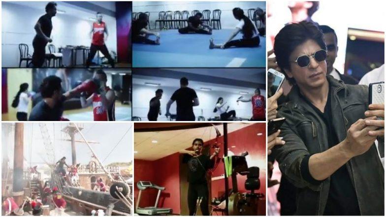 Thugs of Hindostan Making Video Chapter IV: Amitabh Bachchan, Aamir Khan, Fatima Sana Shaikh Train Rigorously For Action Scenes As Shah Rukh Khan Makes a Sneaky 'Cameo' - Watch Video