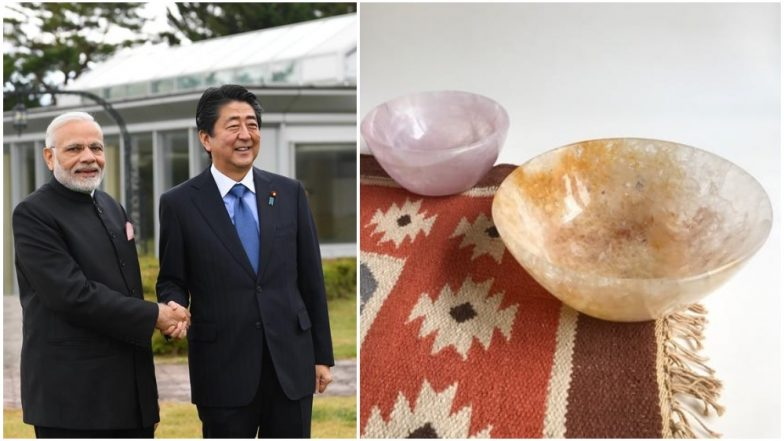 Narendra Modi Gifts Japanese PM Shinzo Abe Stone Bowls and Hand-Woven Dhurries Made by Weavers of Mirzapur