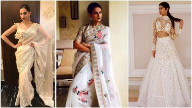 Navratri 2018 Day 6 Colour, October 15 – White: Deepika Padukone, Kangana Ranaut and Khushi Kapoor Teach You How to Shine in This Colour