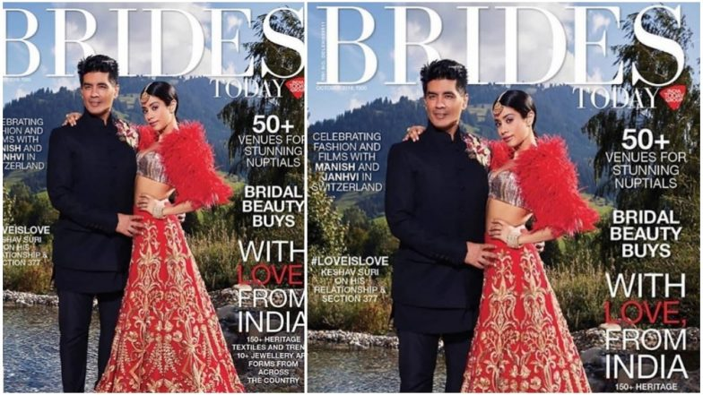 Janhvi Kapoor Poses As the Muse for Designer Manish Malhotra in Her New Magazine Cover - View Pic