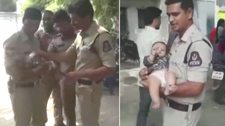 Another Photo of Telangana Police Taking Care of Baby As Mother Writes Exam Goes Viral