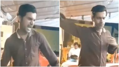 Rajkummar Rao Grooves to Shah Rukh Khan's Baazigar Song Yeh Kaali Kaali Aankhen, This Video From the Sets of Made in China Is Sure to Win Your Hearts