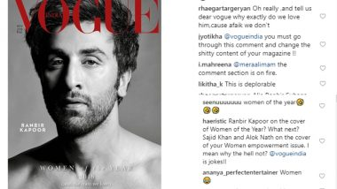 Vogue India Puts Ranbir Kapoor on the Cover of 'Women of the Year Issue' and the Internet Takes Them Back to the Cleaners – View Pics