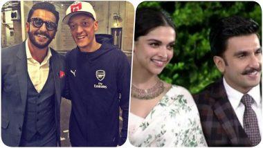 Mesut Ozil to be a Guest in Ranveer Singh-Deepika Padukone Wedding? Arsenal Footballer Wants to Visit India to Meet His Bollywood Friend