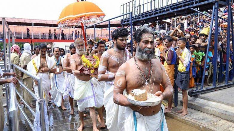 Sabarimala Temple Doors Opened Again, Devotees Climb Sacred Pathinettam Padi to Offer Prayers; Security Upped