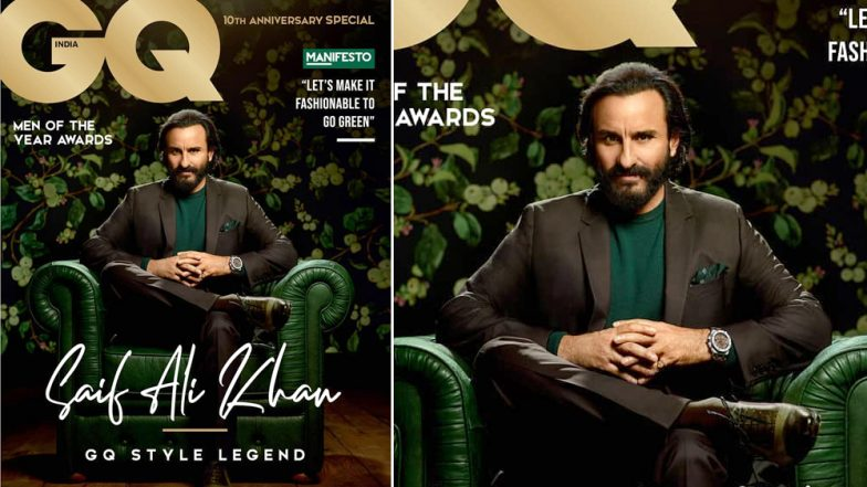 Saif Ali Khan Reigns as a Style Legend on the Cover of GQ India's Anniversary Issue – View Pics