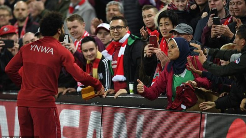 Mohamed Salah Trades his Jersey with a Fan for a Box of Chocolate After Liverpool's Victory Against Red Star Belgrade (Watch Video)