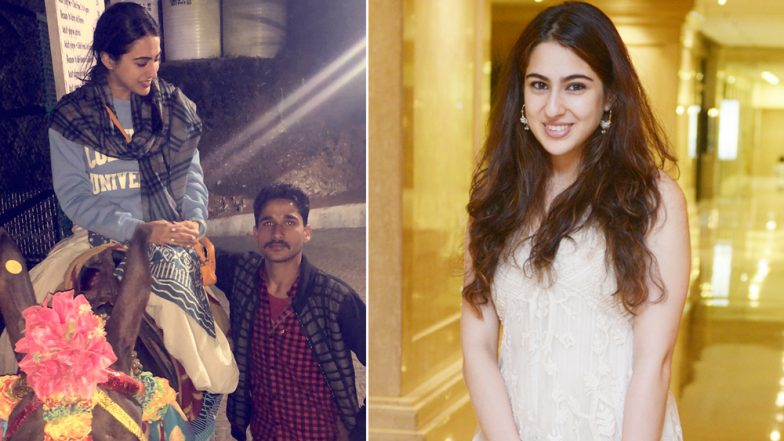 Sara Ali Khan Visits Vaishano Devi Shrine; Gets Interesting Trivia About Holy Cave (Watch Video)