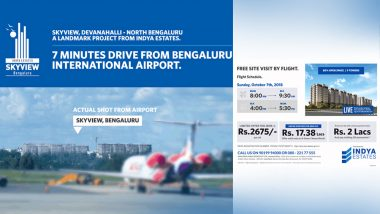 Mumbai to Bengaluru Free Flight Tickets? Real Estate Firm Indya Estates Publishes Full-Page Newspaper Ad
