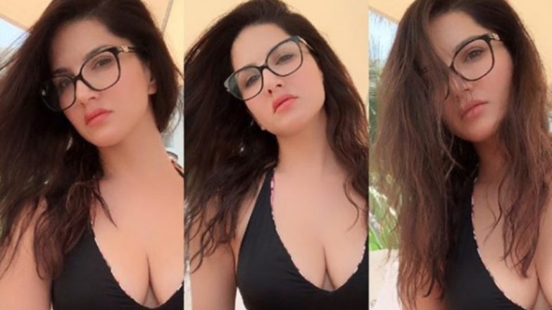 Sunny Leone's Sexy Black Monokini Pic Is Making This Pittal Di Duniya a Better Place to Live