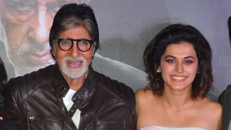 So Cute! Taapsee Pannu and Amitabh Bachchan Call Each Other As 'Chick' and 'Dude' – Watch Video