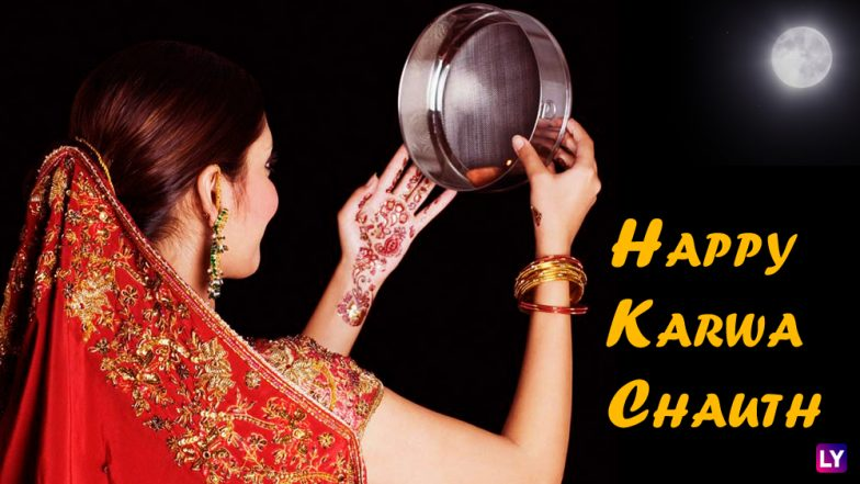 Karwa Chauth 2018 Wishes for Your Loved One: Best WhatsApp Messages, GIF Images, Facebook Status, SMS for Happy Karva Chauth Greetings