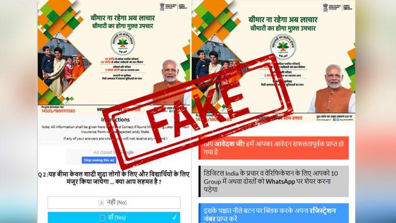 WhatsApp Fake News: ayushmaan-bharat.in Is Not the Official Pradhan Mantri Jan Arogya Yojana Health Insurance Website