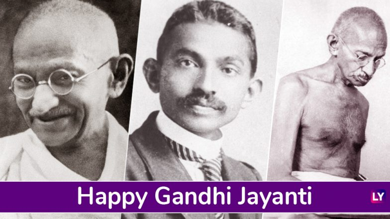 Gandhi Jayanti 2018 Wishes: Photos of Gandhiji, WhatsApp Messages, GIF Images, Facebook Status to Send Greetings on October 2, International Day of Non-Violence