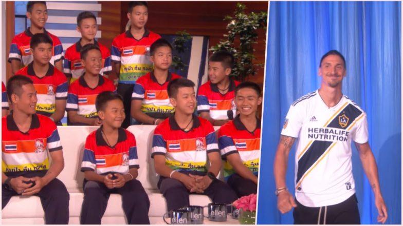 Thai Cave Boys Appear in Ellen DeGeneres Talk Show; Football Team Surprised by Swiss Legend Zlatan; Watch Video