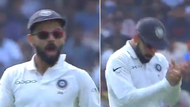 When Virat Kohli Asked Crowd to Cheer for Team India Against West Indies During Hyderabad Test (Watch Video)