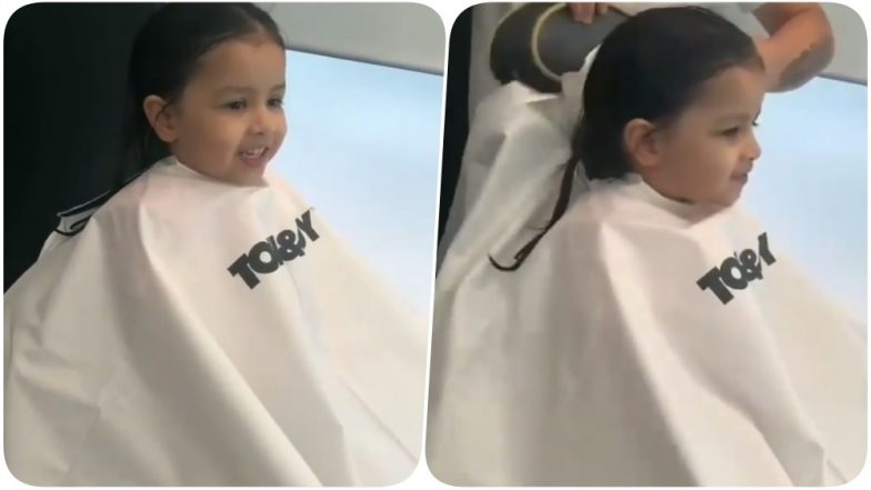 MS Dhoni's Munchkin Ziva Goes On a Salon Date! Her Cute Expressions Wins the Day (Watch Video)