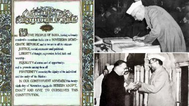 Constitution Day: Narendra Modi, Mamata Banerjee, Arun Jaitley, Suresh Prabhu & Other Political Leaders Pay Tribute on Samvidhan Diwas