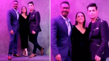 Karan Johar Shoots With Kajol and Ajay Devgn for Koffee With Karan Season 6