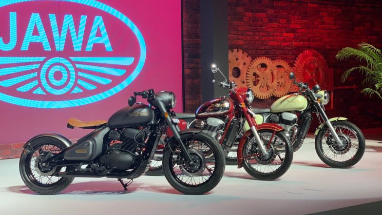 Jawa Brand Revived by Mahindra with 3 New Models; Jawa, Jawa Forty Two & Jawa Perak Launched in India Starting at Rs 1.55 Lakh