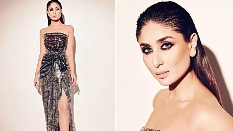 Kareena Kapoor Khan Looks Uber Hot in Her Thigh-High Slit Off-Shoulder Dress at the Mowgli Premiere – View Pics