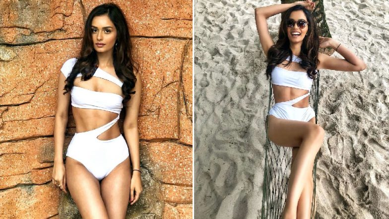 Manushi Chhillar Flaunts Her Abs in a Sexy White Monokini and All We Can Say Is HOT DAMN!