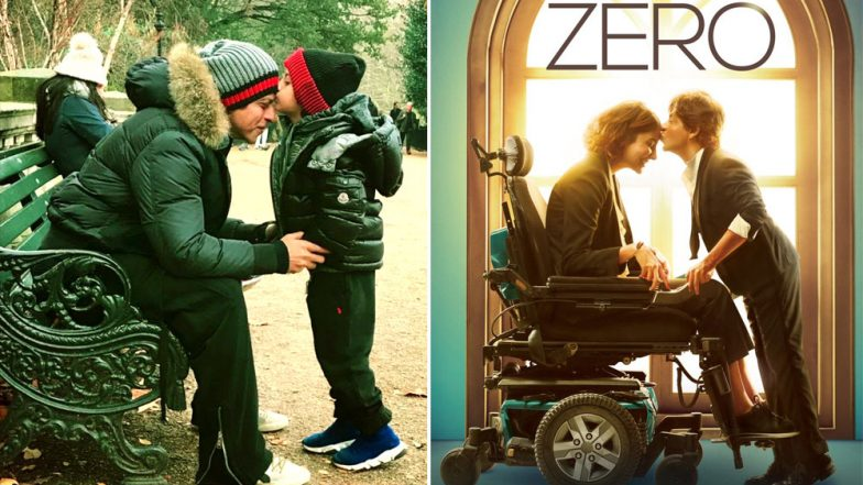 AbRam and Shah Rukh Khan Try and Recreate the New Zero Poster and Honestly, the Outcome Is Far Cuter – View Pic