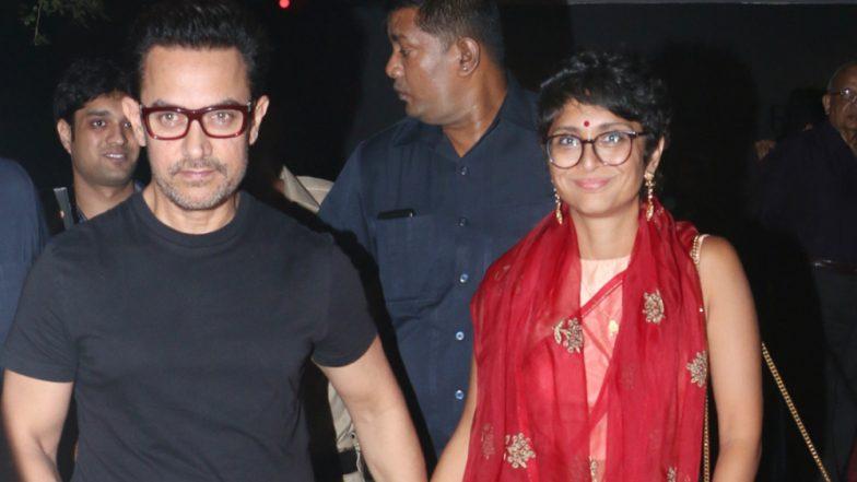 Aamir Khan Celebrates Diwali and Wifey Kiran Rao's Birthday: Check Unusual Date Pics of 'Thugs of Hindostan' Actor Here!