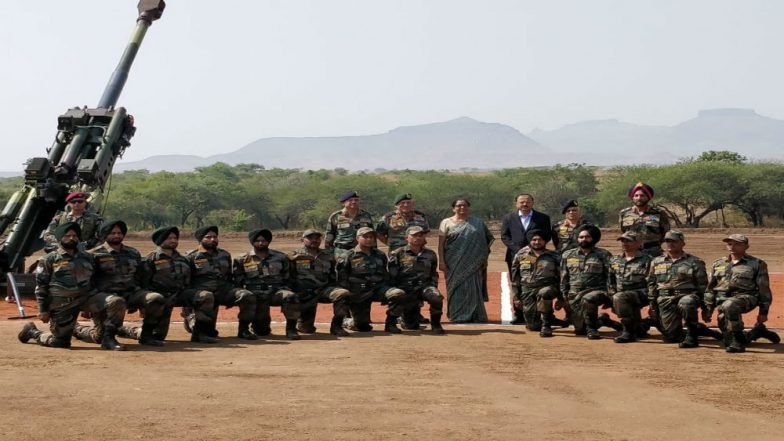 Defence Minister Nirmala Sitharaman Unveils M777, K9 Howitzers for Indian Army