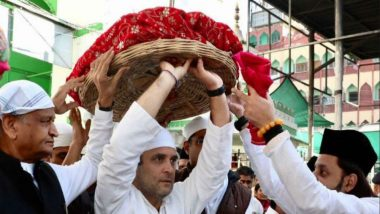 Rajasthan Assembly Elections 2018: Rahul Gandhi, Sachin Pilot, Ashok Gehlot Offer Prayers at Ajmer Dargah