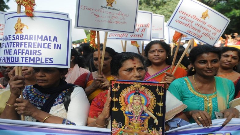 Sabarimala Temple Row: Protesters Violate Custom in Bid to Stop Woman of 'Barred' Age Group From Entering Holy Shrine