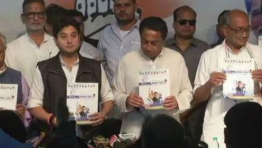 Madhya Pradesh Assembly Elections 2018: Congress Releases Manifesto, Promises Jobs, Security to Women