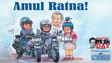 National Milk Day 2018: Amul Dedicates 'Amul Ratna' Doodle to Dr Verghese Kurien