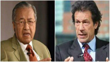 Malaysian PM Mahathir Mohamad Meets Pakistan PM Imran Khan, Pledge to Cooperate on Anti-corruption, Tourism