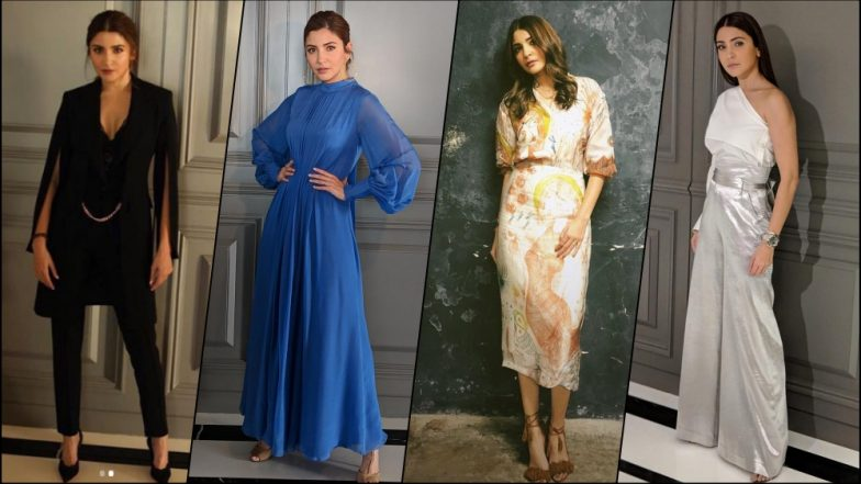 Anushka Sharma Stuns at Zero Movie Promotions: Actress Channelises Her Inner Fashionista With Black Pantsuit to Metallic Trend (See Pics)