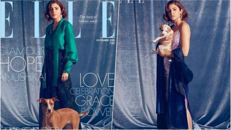 Anushka Sharma Makes a Vintage Style Statement With Faux Bob and a Doggo on Elle Magazine's November Cover – See Pics