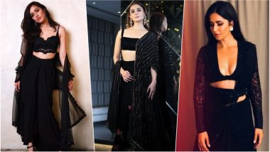 Katrina Kaif, Alia Bhatt & Shraddha Kapoor – Which Actress Slayed in Black Traditional Outfit at Shah Rukh Khan's 2018 Diwali Party? See Pics and Vote Now!