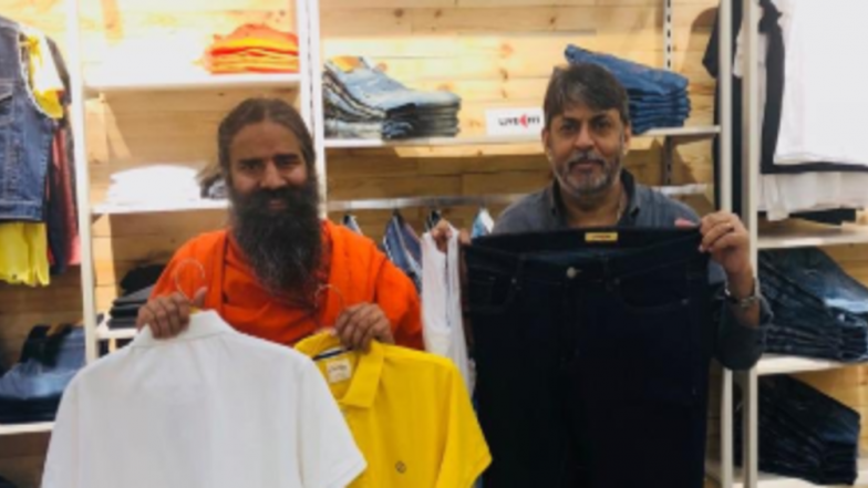 Patanjali Paridhan, Baba Ramdev's Swadeshi Apparel Store, Launched in Delhi; Yoga Guru Unveils 3 New Brands LiveFit, Astha, Sanskar on Dhanteras