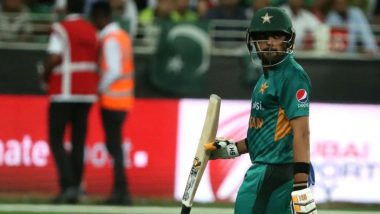 Babar Azam Dismissed for a Duck During ENG vs PAK 1st ODI 2021 (Watch Video)