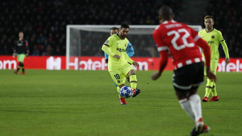 Barcelona vs PSV Eindhoven, UEFA Champions League 2018–19 Video Highlights: Goals by Lionel Messi and Gerard Pique Sees FCB Defeat PSV 2-1