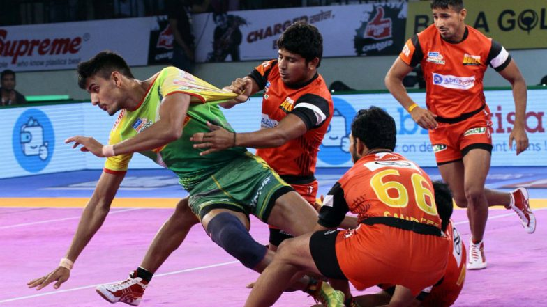 PKL 2018-19 Video Highlights: Bengaluru Bulls Edge Past Hosts Patna Pirates in a Thrilling Fixture 43-41