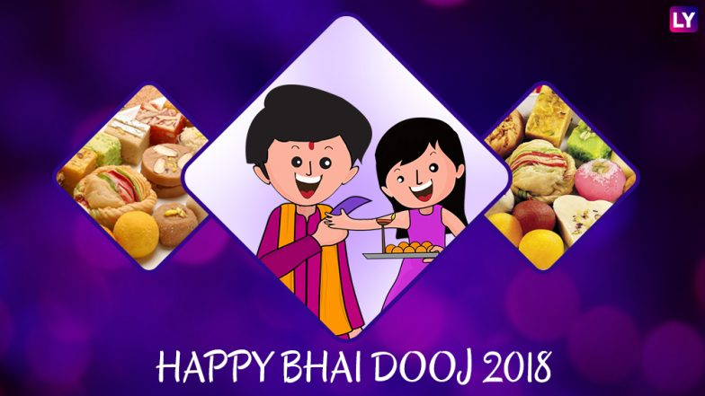 Bhai Dooj 2018 WhatsApp Stickers & HD Images for Free Download Online: Best Bhau-Beej Wallpapers, GIF Greetings and Messages to Wish Happy Bhai Tika