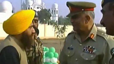 Khalistani Terrorist Gopal Chawla Seen With Pakistan Army Chief Gen Bajwa at Kartarpur Event